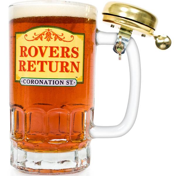 Rovers Return Pint Glass