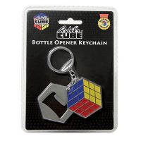 Rubik's Cube Bottle Opener Key Chain
