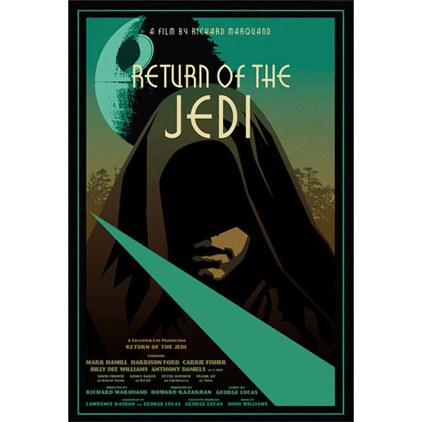 Russell Walks Star Wars Return of the Jedi Poster