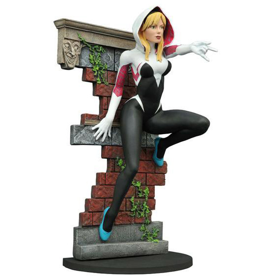 SDCC 2016 Exclusive Marvel Gallery Spider-Gwen Unmasked Version Statue