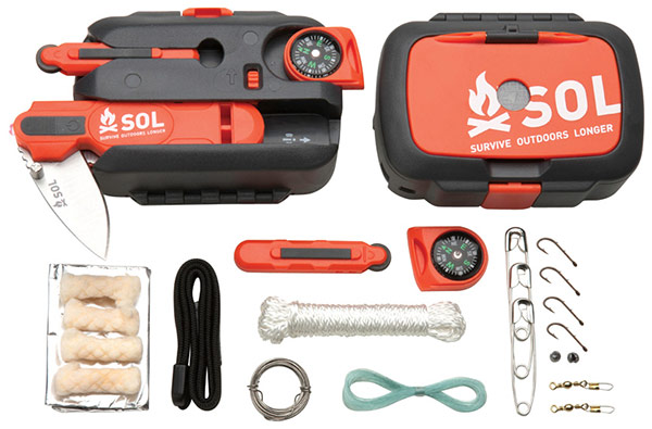 An example of a survival kit from SOL