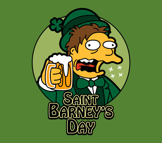 Saint Barney's Day Simpsons T-Shirt