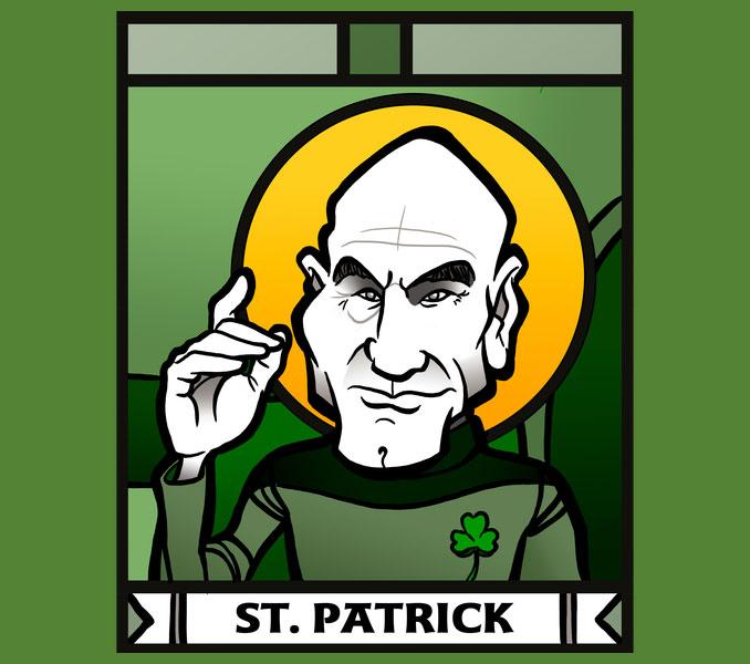 Saint Patrick Star Trek Shirt