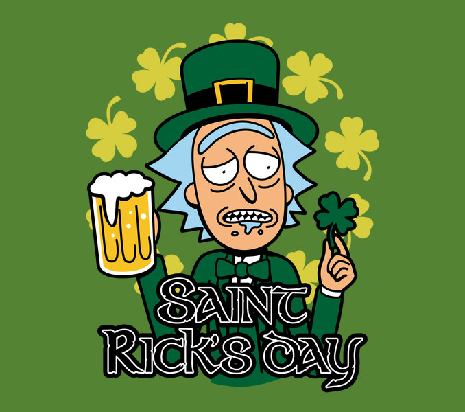 Saint Rick's Day Rick Morty Shirt