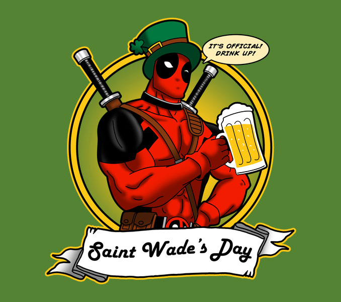 Saint Wade's Day Deadpool T-Shirt