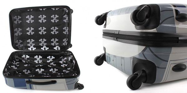 Salvador Bachiller R2-D2 themed rolling suitcase