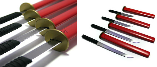 Samurai Kitchen Knife Blades