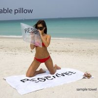 Sand Reserved Bed on the Beach Towel