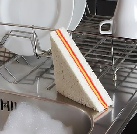 Sandwich Shaped Sponge