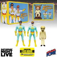Saturday Night Live The Ambiguously Gay Duo and Bighead 3 3 4-Inch Figures in Tin Tote