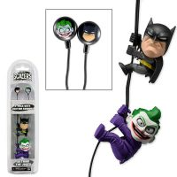 Scalers 2 Inch Batman and Joker 2 Pack with Earbuds