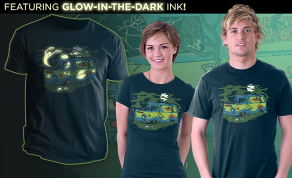 Scooby Doo Haunted Old Van Glow-in-the-Dark Shirt
