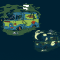 Scooby Doo Haunted Old Van Glow-in-the-Dark T-Shirt