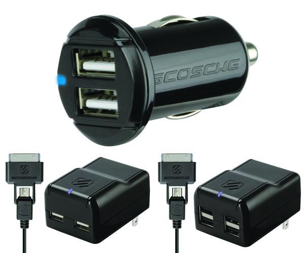 Scosche Announces Four New Multi USB Port Home Chargers