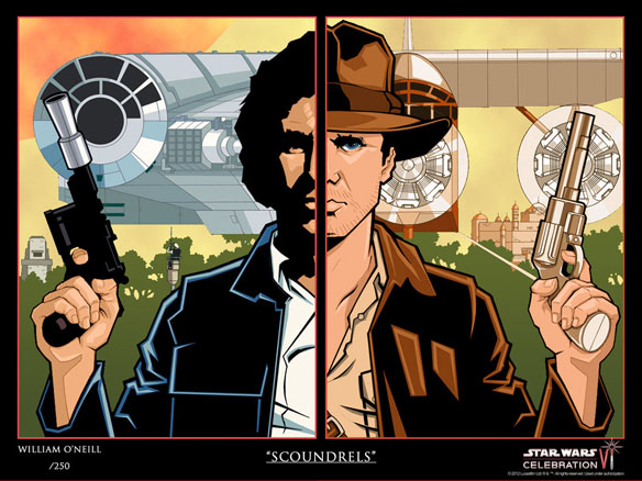 Scoundrels - Star Wars Celebration Art Print