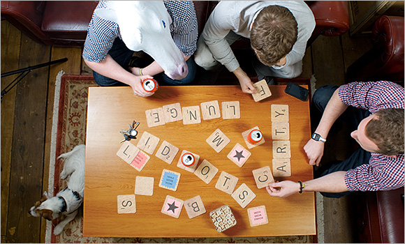 Scrabble Beer Coasters