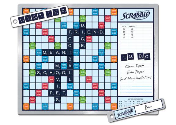 Scrabble Message Board Game
