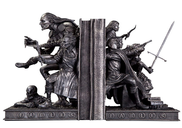 Sculpted Fables Bookends