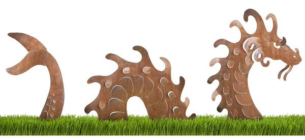 Sea Serpent Garden Sculpture