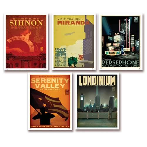 Serenity Blue Sun Travel 5-Pack Posters