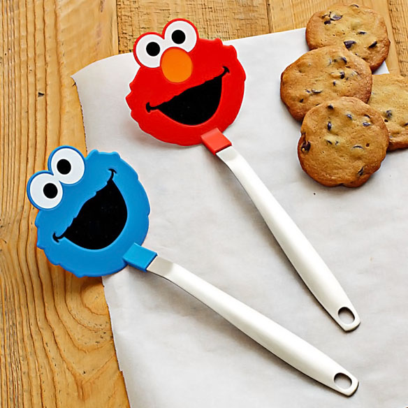 Sesame Street Cookie Monster & Elmo Flexible Spatulas