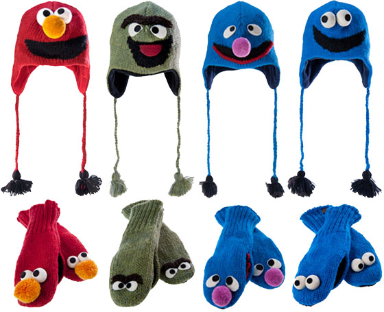 Sesame Street Knit Wits Hats and Mittens