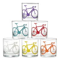 Set of 8 Bicycle Glasses
