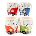 Set of Four VW Camper Van Mugs