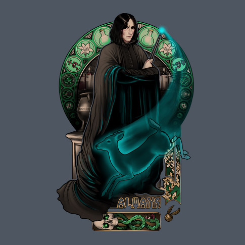 The Severus Snape 'Always' T-Shirt is available for $20 at TeeFury ...