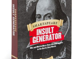 Shakespeare Insult Generator Book