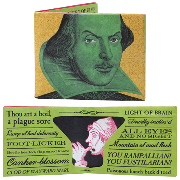 Shakespeare Insult Wallet Shakespeare Insult Wallet