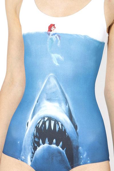 Shark vs Mermaid Ladies Swimsuit