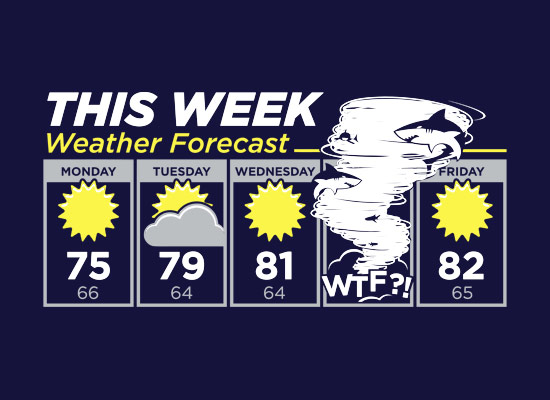 Sharknado Weather Forecast TShirt