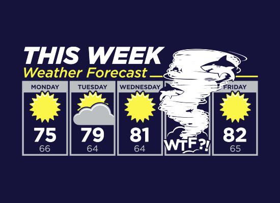 Sharknado Weather Forecast TShirt