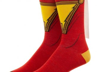 Shazam Caped Costume Socks
