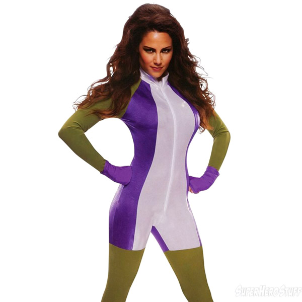 She Hulk Womens Jumpsuit Costume