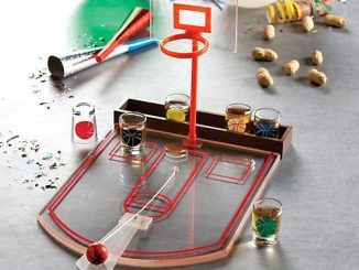 Shot Glass Basketball Bar Game Set