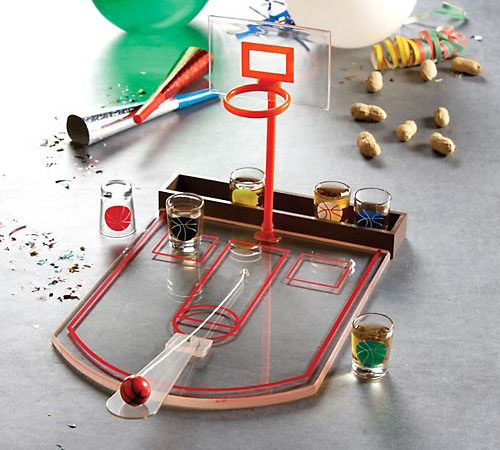 Shot Glass Basketball Bar Game Set