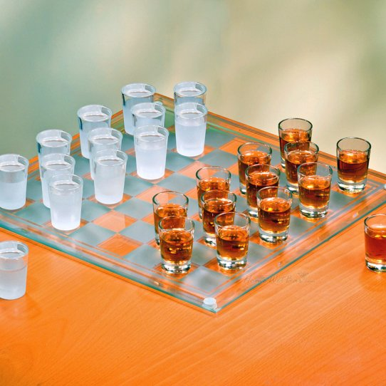 Shot Glass Checkers Set Shot Glass Checker Set