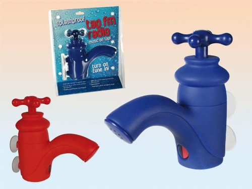 Shower FM Radio Blue Tap
