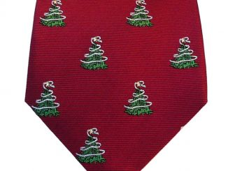 Silk Woven Christmas Tree Tie