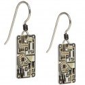 Silver Circuit Board Earrings