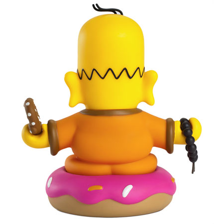 Simpsons Homer Buddha 3-Inch Vinyl Mini-Figure Back
