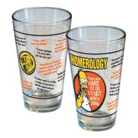 Simpsons Homerology Pint Glass