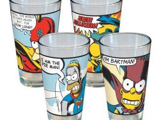 Simpsons Superhero Pint Glass 4-Pack
