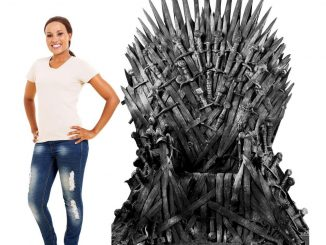 Six Foot Tall Iron Throne Standee