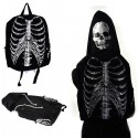 Skeleton Backpack with Detachable Skull Hood