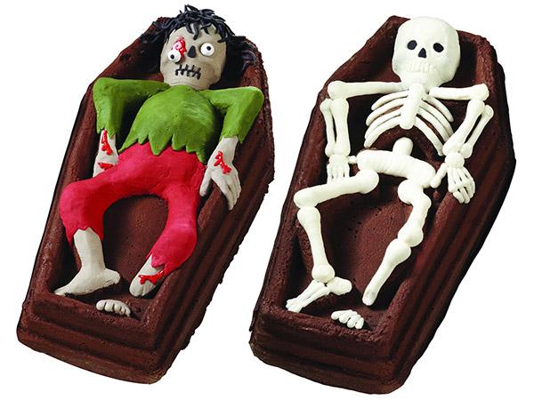 Skeleton Casket Cakes