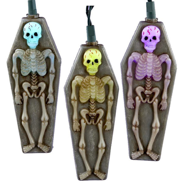 Skeleton with Tombstone Novelty Light Set