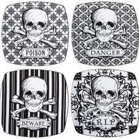 Skull Appetizer Plates